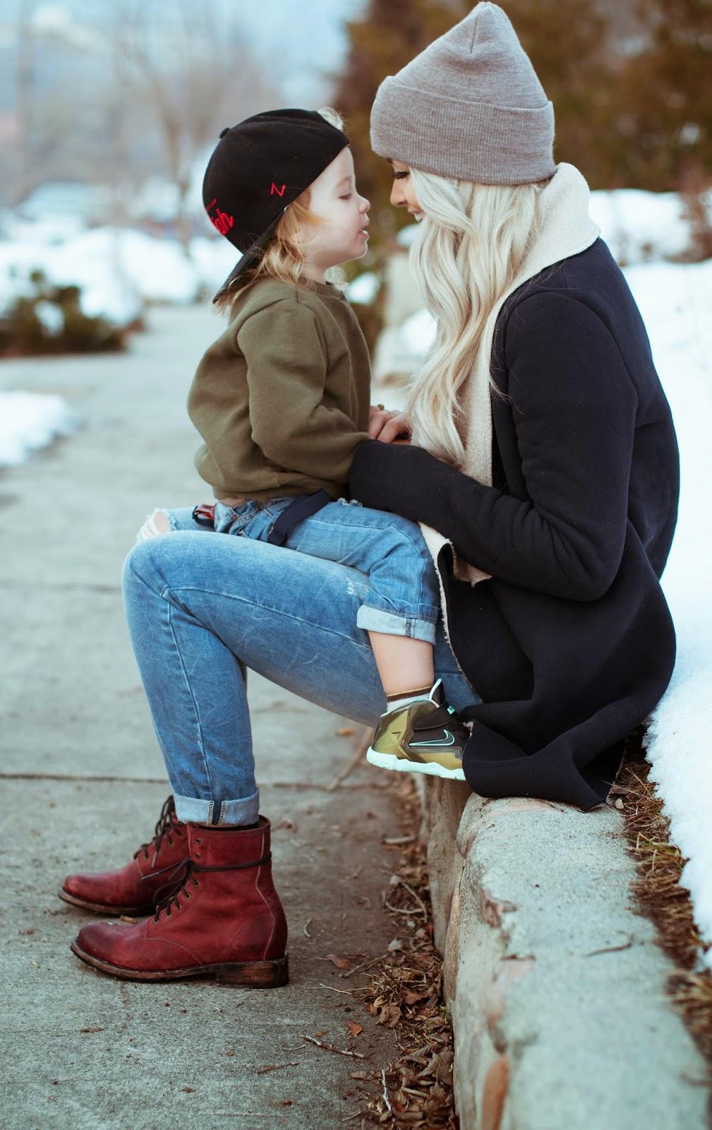 Сынь и молодая мама 2 фотография