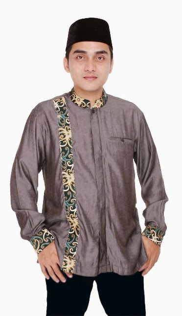 Model baju muslim batik pria modis