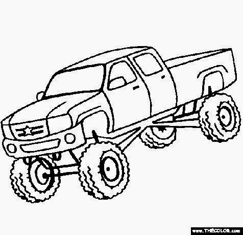 Truck Coloring Sheets