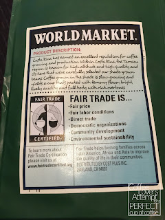 World Market Costa Rican Tarrazu Coffee - Back