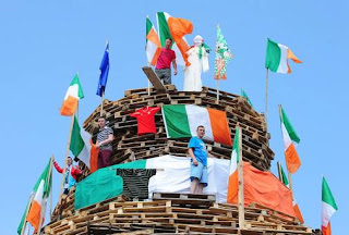 A loyalist bonfire in Belfast