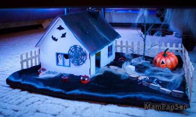 жуткий домик на Хэллоуин