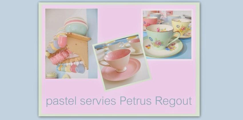 pastel servies Petrus Regout
