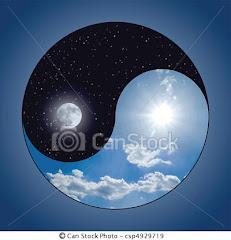 Yin Yang  - Equilibrio Geminino/Masculino - Dia Noite