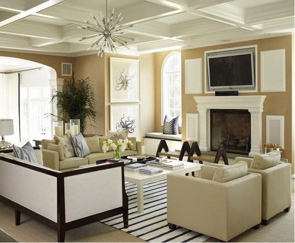 D coration salon en beige d coration salon d cor de salon for Comdecoration salon beige