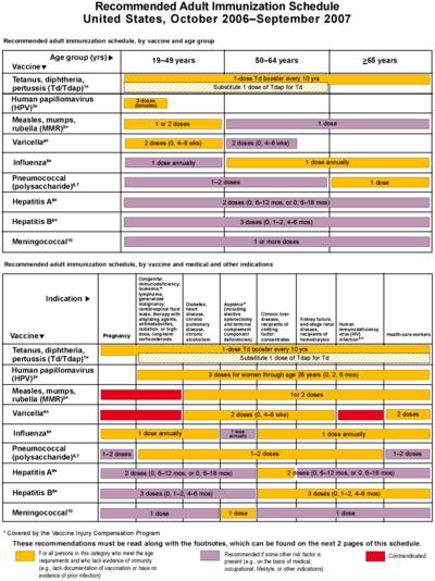 notez on nursing      adult vaccination schedule