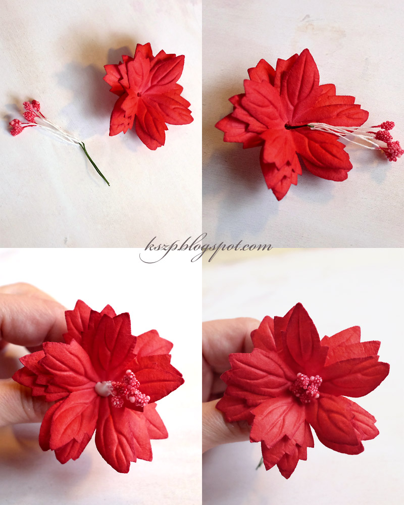 Wild Orchid Crafts Poinsettias Tutorial And Christams Ornaments