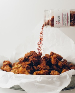 Spicy korean fried chicken recipe by iamafoodblog