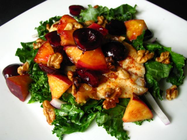 two foodies & a pup: Grilled Stone Fruit & Tilapia Salad