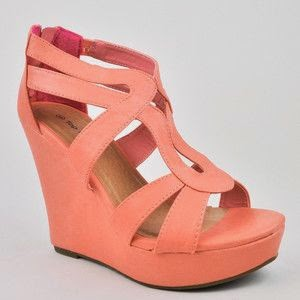 Women's Cute Fashion Wedge Heel Zip Up Zipper Sandals Shoes Top Moda  See more http://worldcutefashion.blogspot.com/