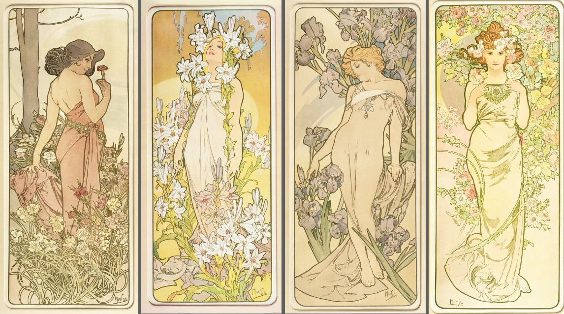 The Flowers (series) - Browse Works - Gallery - Mucha Foundation