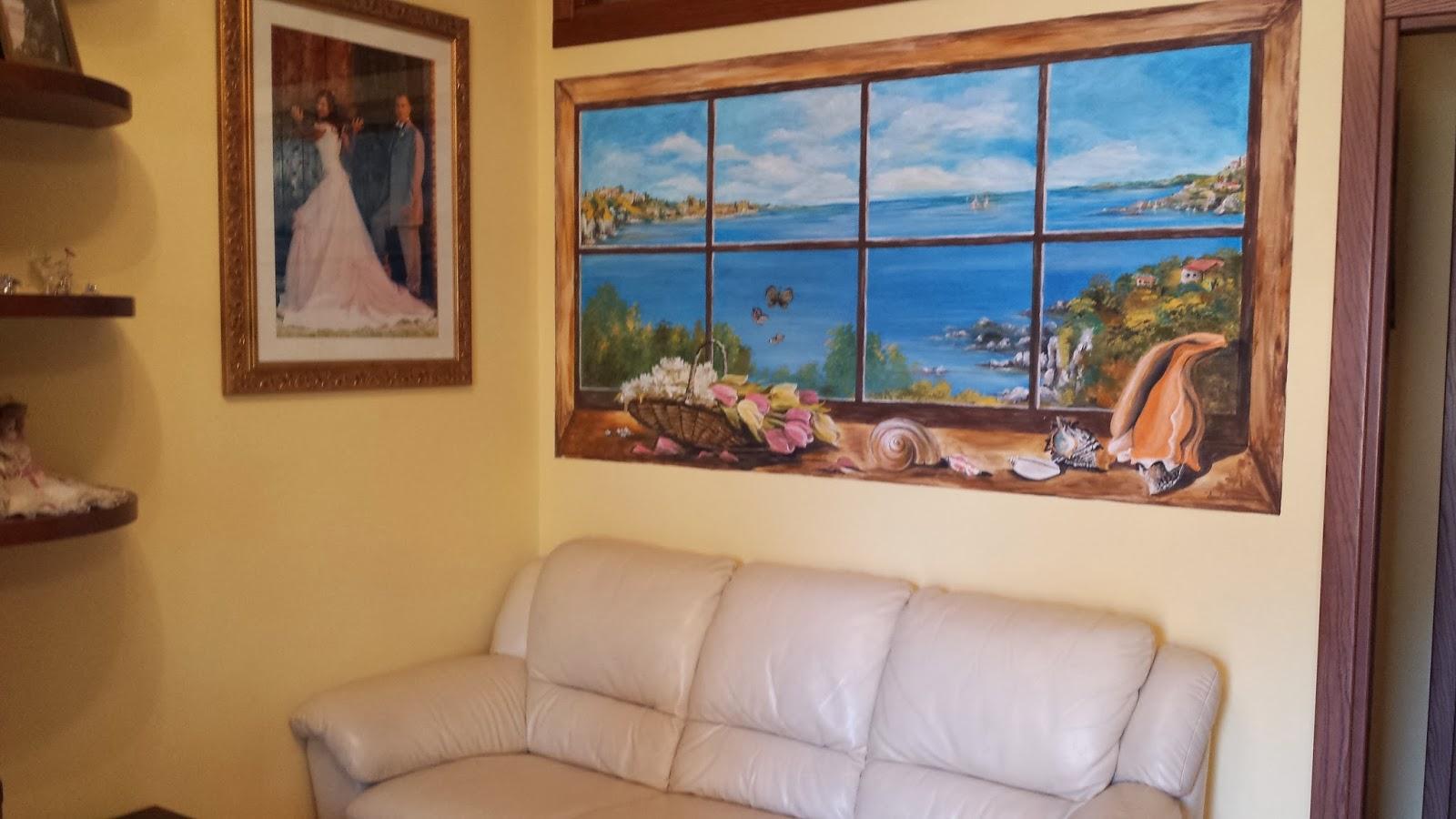 Donatella e l 39 amore per ogni cosa trompe l 39 oeil attraverso una finestra - Trompe l oeil finestra ...