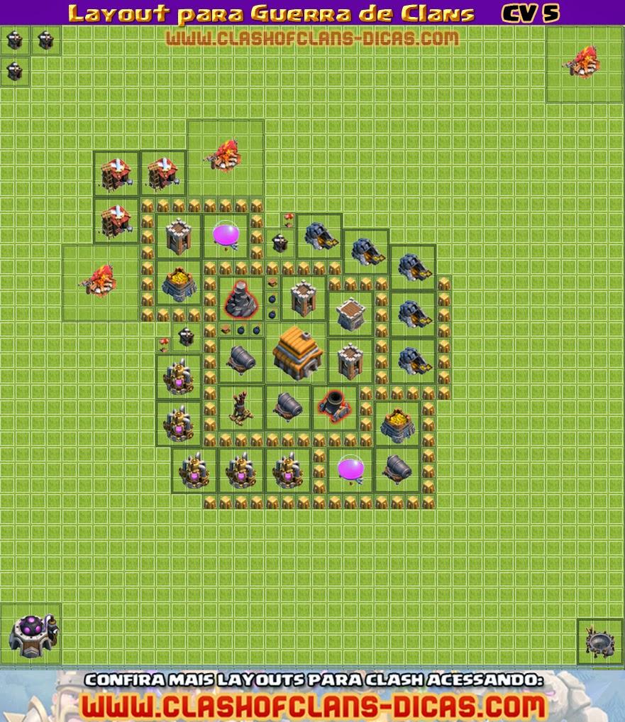 Layouts para Guerra Guerra-de-clans-cv5-layout