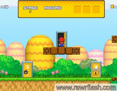 Jogos de aventura, plataforma, mario: Super Mario Bros - Star Scramble 3