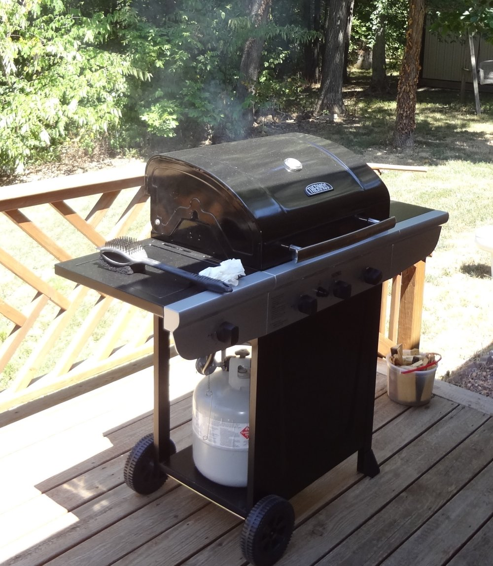 infinity farms pork butt on a cheap gas grill. Black Bedroom Furniture Sets. Home Design Ideas