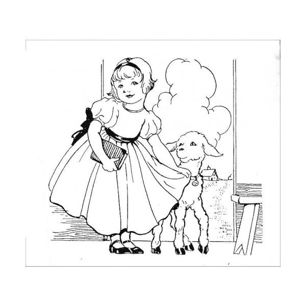 What Looks To Be A Vintage Illustration Listed As Free Embroidery Pattern