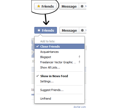 Close Friend di Facebook