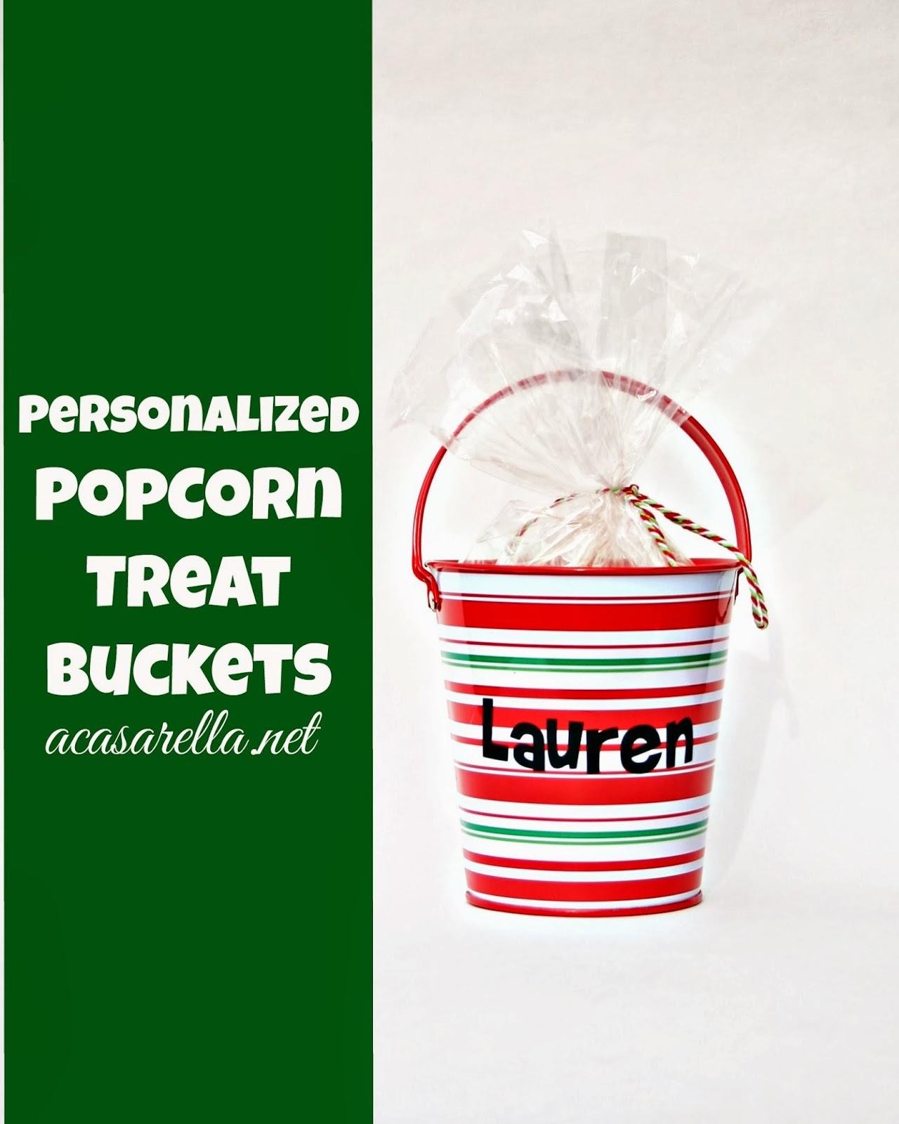 Holiday Popcorn Buckets | 'A Casarella
