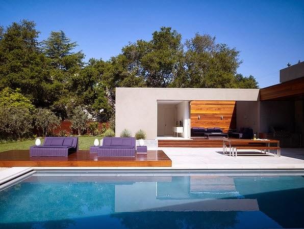 Dise o de casa moderna en forma de u fachada e interiores for Casa a forma di u con cortile