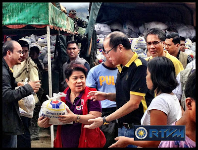 President Aquino, DSWD Sec. Soliman and DILG Sec. Mar Roxas