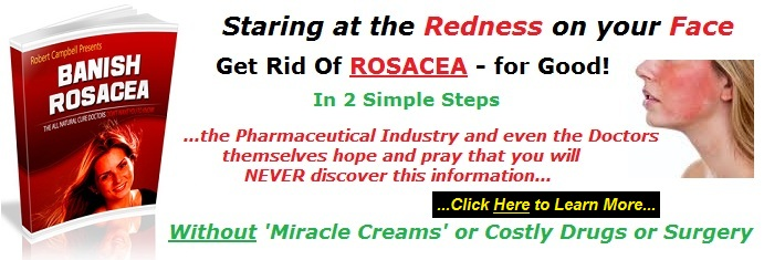 Rosacea and acne; the red skin face