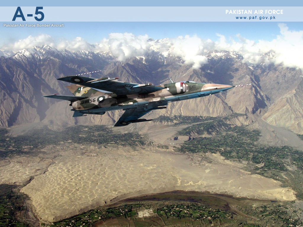 Pakistan Air Force A-5 Bomber Air Craft Wallpaper