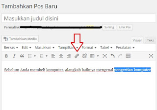 membuat klik di sini di wordpress