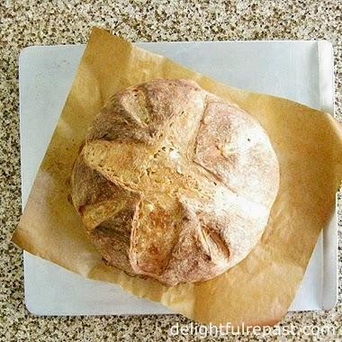 Artisan Bread Boule / www.delightfulrepast.com