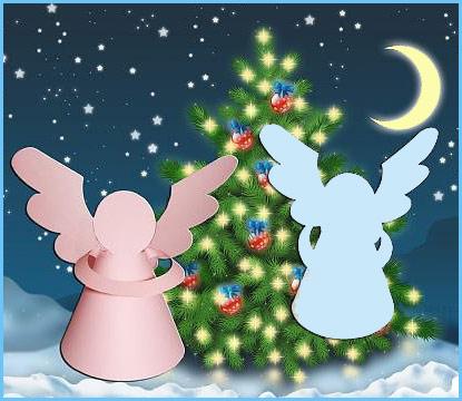 СХЕМА новогодних ангелов из