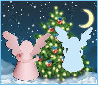 новогодние ангелы из бумаги