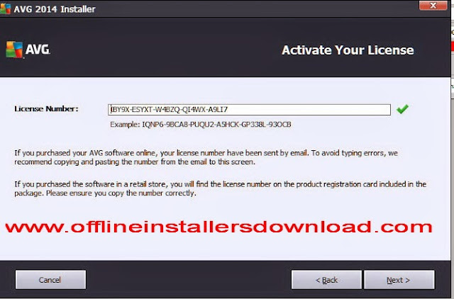 Full setup download of AVG Internet Security 2014 with 1 Year Serial