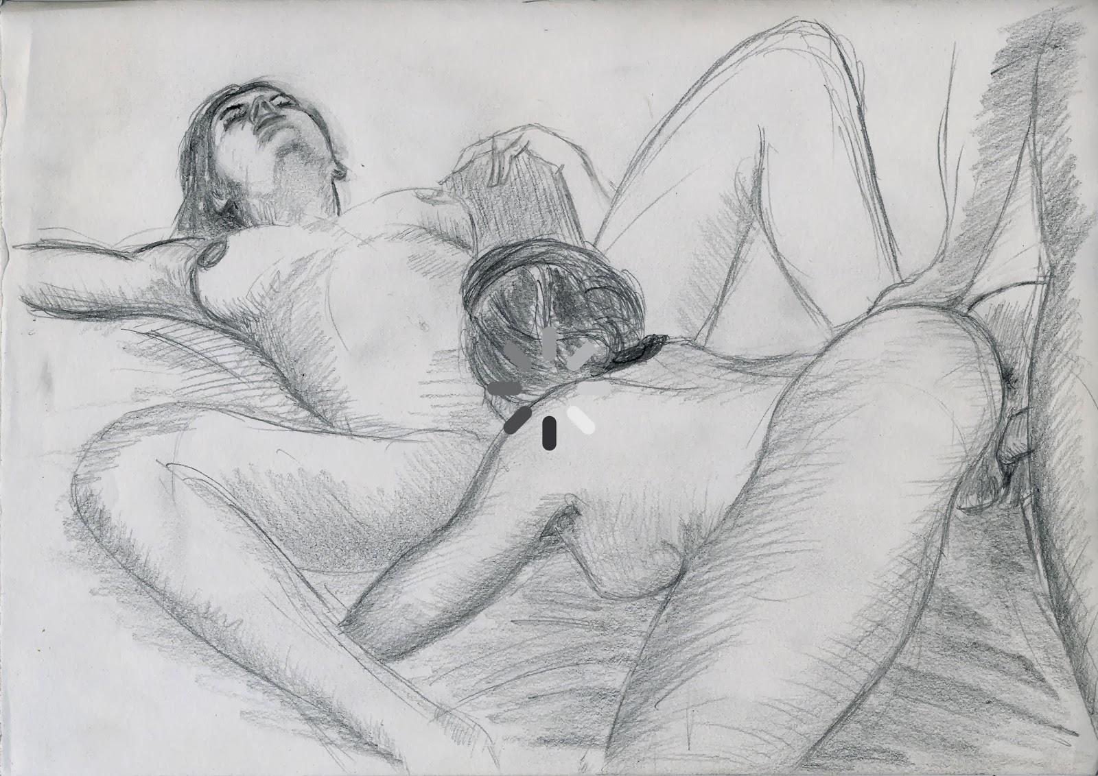 dessin érotique pornographique threesome triolisme