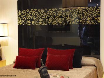 Cabecero de cama de vidrio