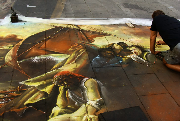 Amazing Art Design : Pavement drawing amazing art design