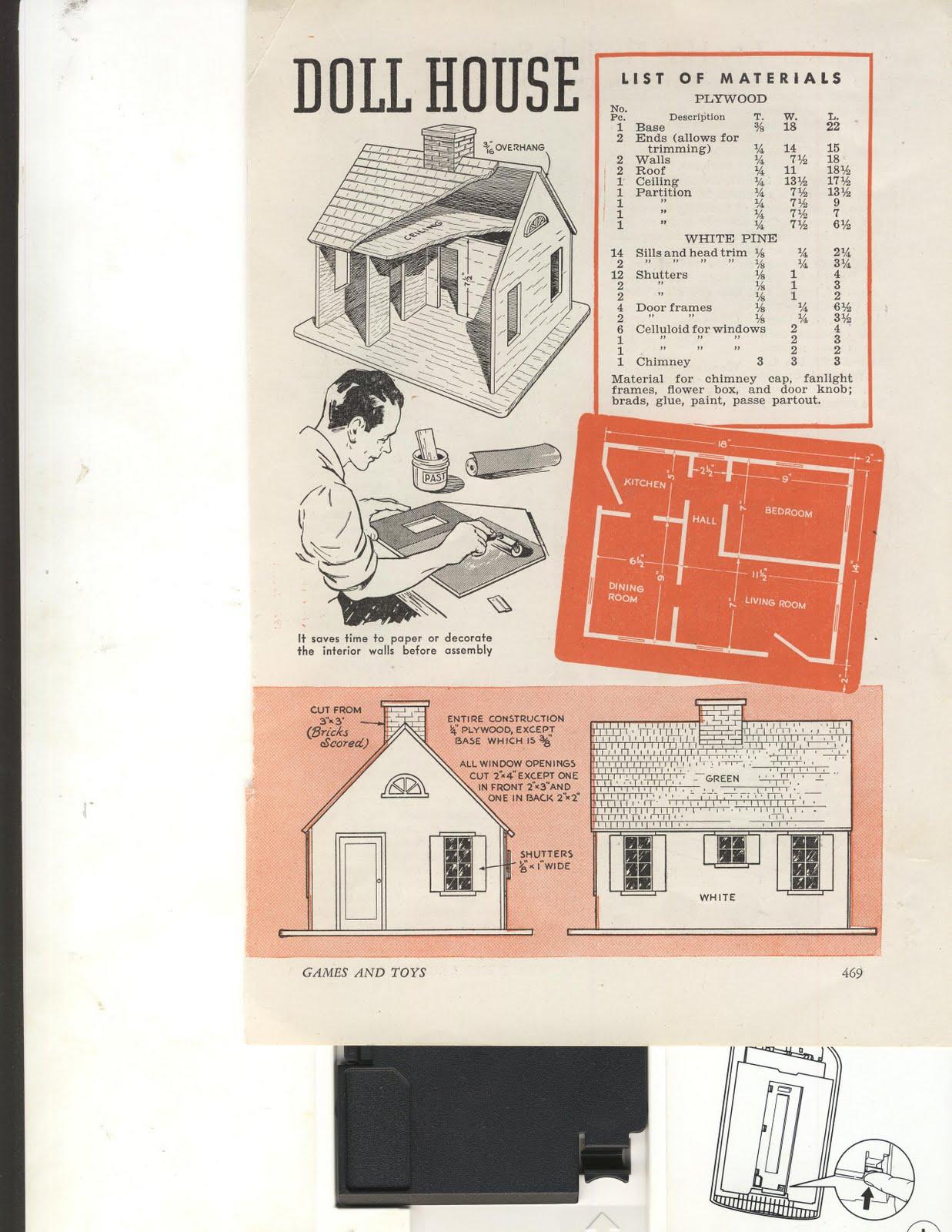 Vintage Plans Vintage Plans For Doll Houses