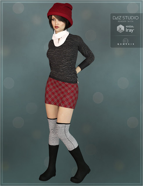 Winter Warmers Outfit for Genesis 3 Female
