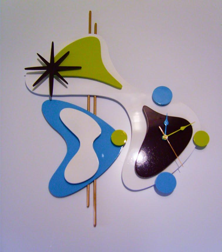 Relógio Quartz de parede 48x58 cm Art Deco