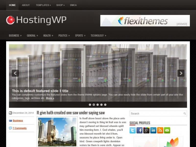HostingWP - Free Wordpress Theme