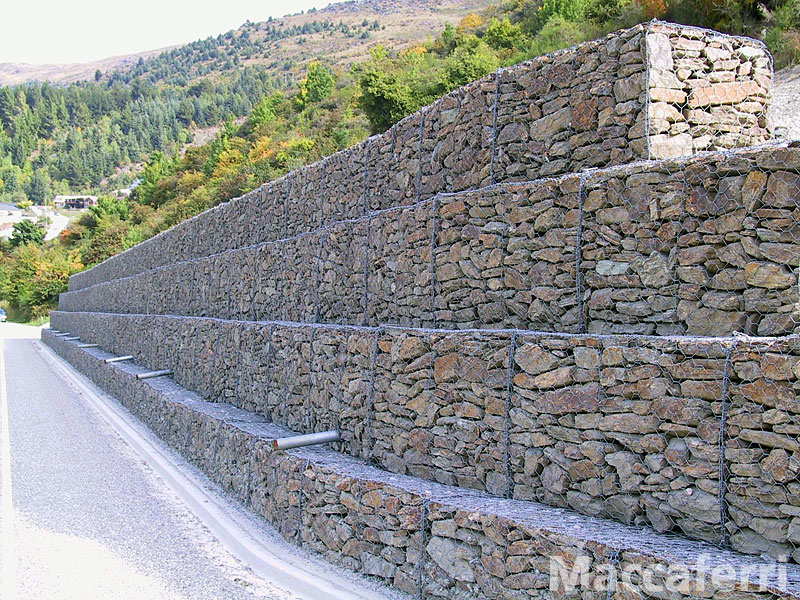 Temperate climate permaculture gabions for creek restoration Gabion wall design