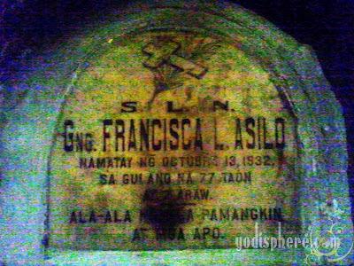 Underground cemetery old tomb marker