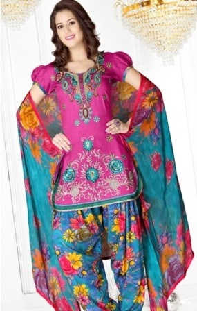 Designer Embroidery Patiala Dresses