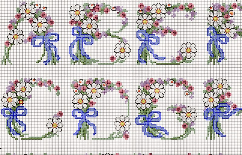 schemi punto croce alfabeto bambini zf11 pineglen