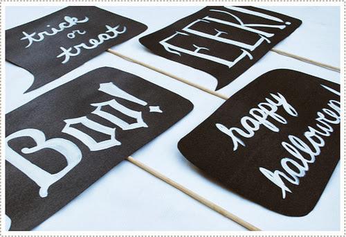 halloween fiesta diy photobooth photocall fotografías handmade manualidades dialogos