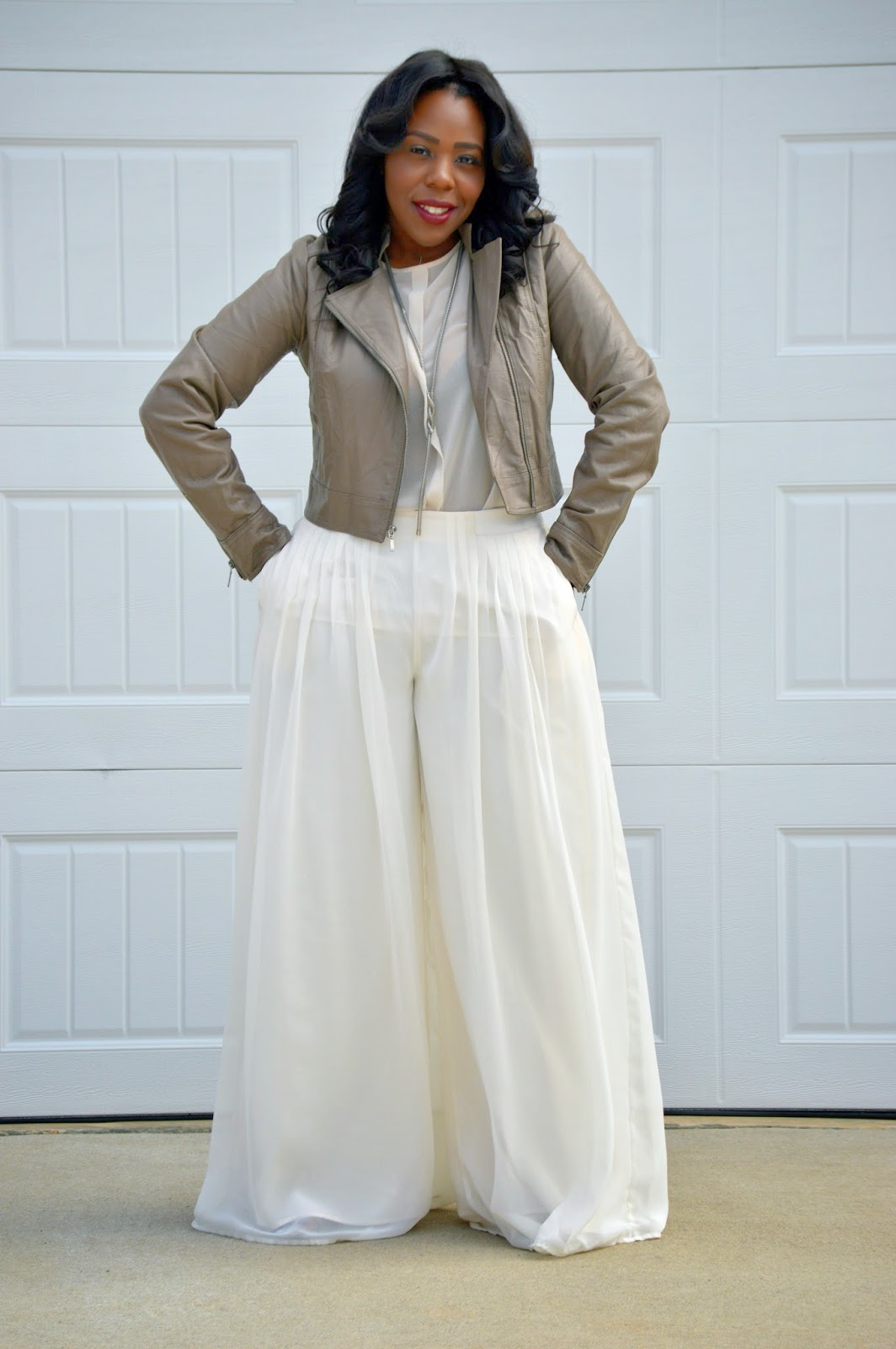 Palazzo Pants Outfit Palazzo pants in winter white