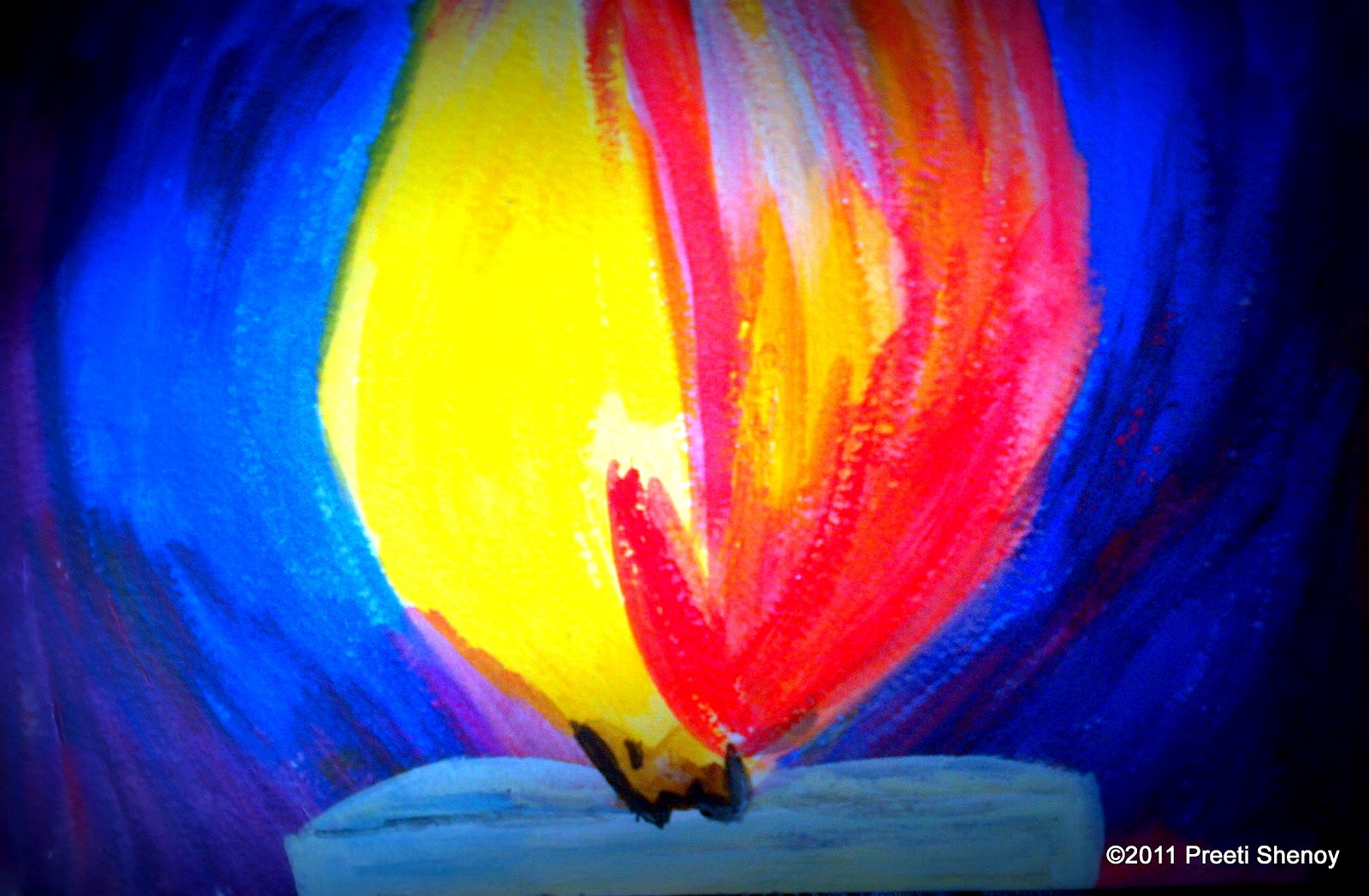 Preeti shenoy 39 s blog march 2012 for Can you paint candles with acrylic paint
