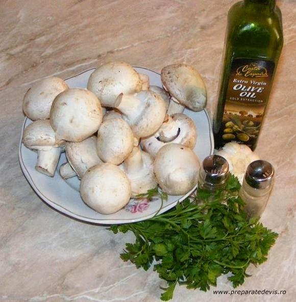 ingrediente ciuperci umplute la cuptor de post,