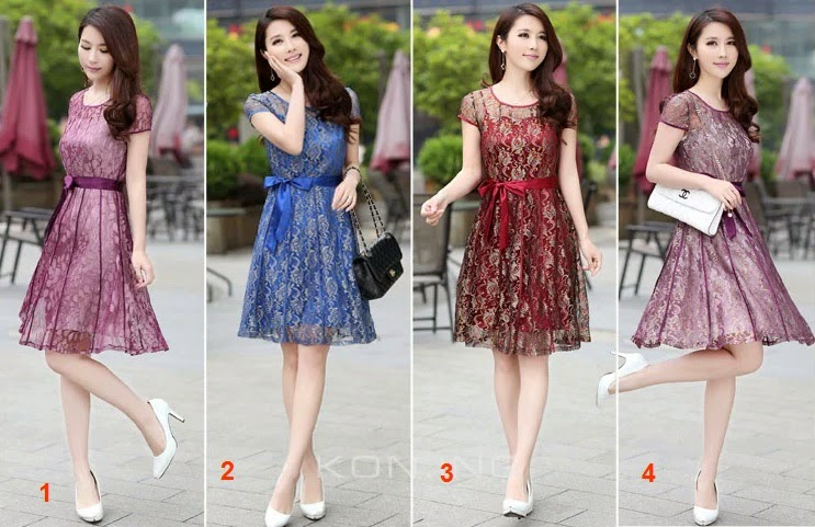 New 2015 4-Color French Lace Dress