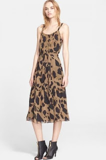 Burberry Brit 'Darcie' Print Silk Sundress