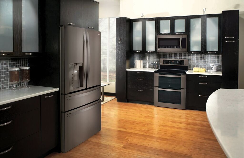 Kitchen Designs With Stainless Steel Appliances Part   24: LGu0027s New  Black Stainless Steel U0026 Part 62