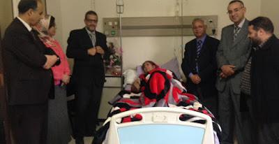 الأكاديمية في زيارة مؤازرة للأستاذة خديجة سهبي بمصحة أكدال بفاس